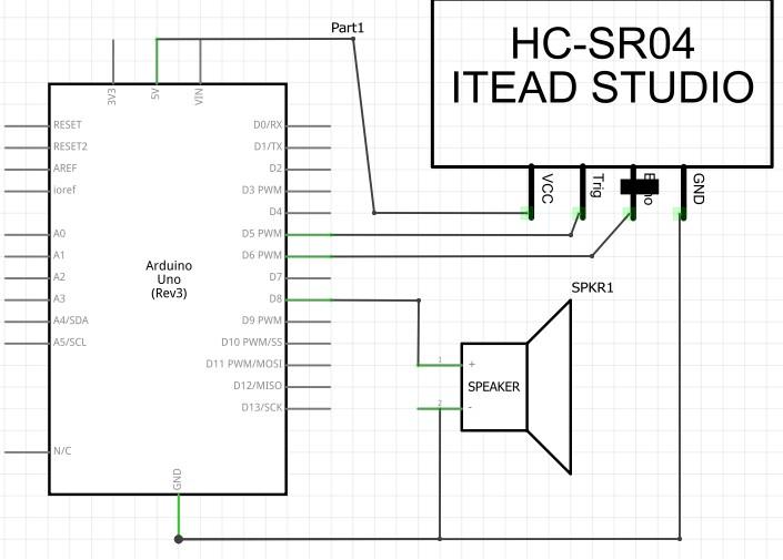 如何用超聲波傳感器-HC-SR04感應音樂?