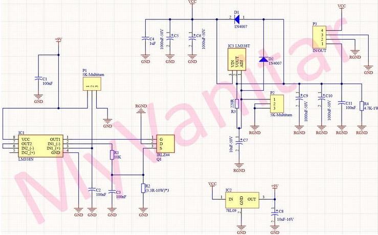 基于测量可调节的30V-4A线性电源