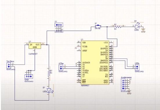 基于使用Arduino、加速度计和LED制作时间手套