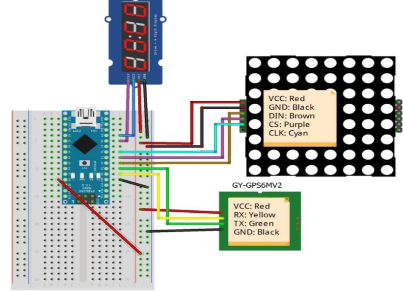 基于Arduino供電及使用GPS-6MV2模塊創建天文時鐘