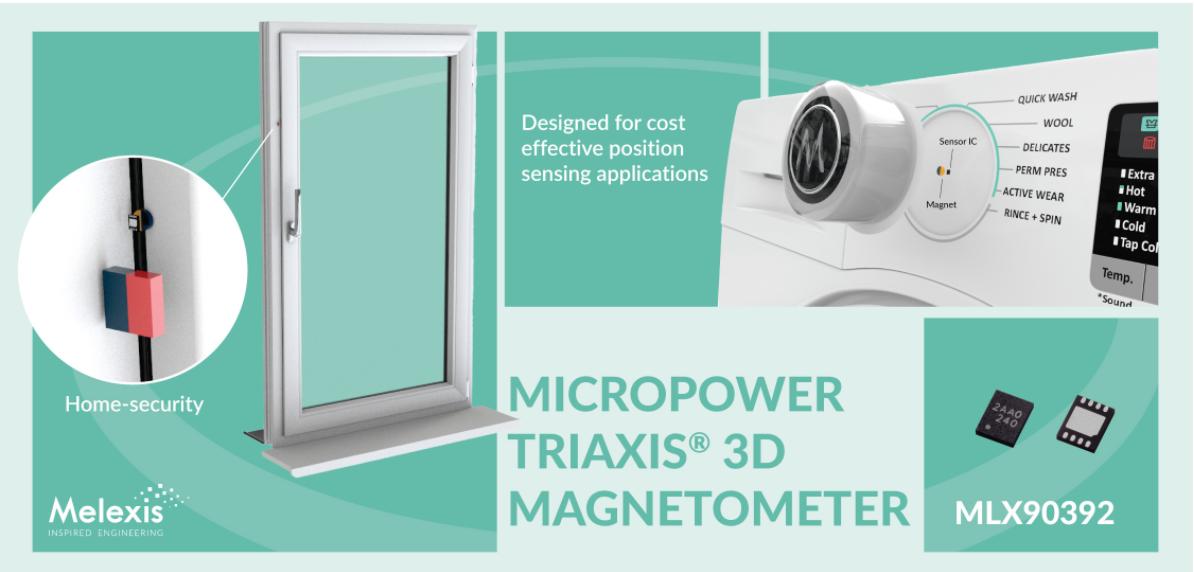 Melexis推出面向消费类应用的紧凑型低压3D磁力计