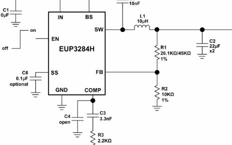 3A同步电流模式降压稳压器芯片EUP3284H