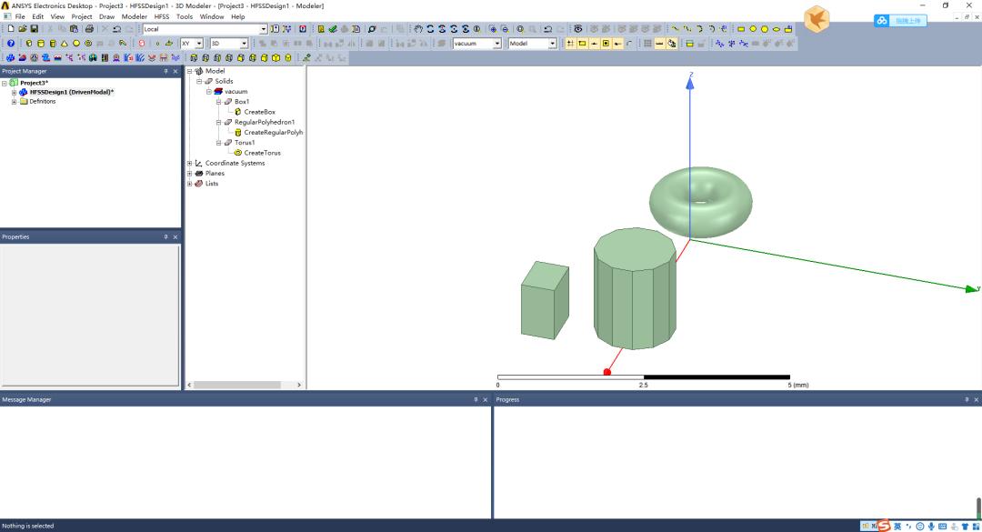 利用HFSS软件进行3D可视化建模
