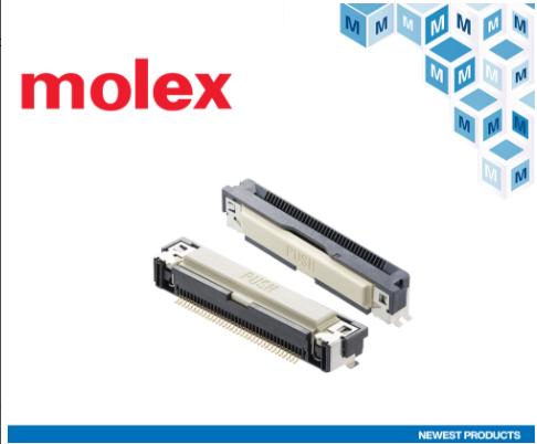 贸泽电子开售用于汽车信息娱乐系统等用途的Molex Easy-On FFC/FPC One-Touch连接器