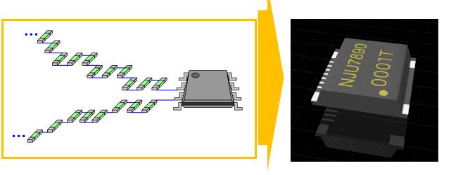 新日本无线新开发高压监测IC NJU7890,可简单高精度直接检测出1000V高压,实现实装面积减少90%