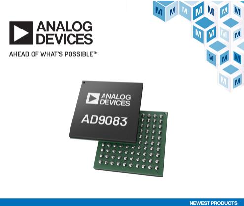 贸泽电子开售Analog Devices AD9083模数转换器为毫米波成像和相控阵雷达应用提供低功耗解决方案