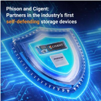 網路安全新標準 群聯攜手Cigent共同推出自我防衛SSD方案