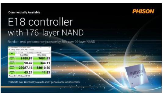 Computex揭幕 群聯Gen4 SSD芯片效能刷新世界紀錄
