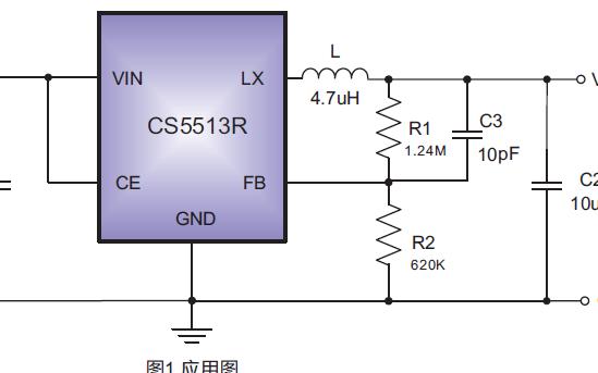 1A低功耗DC-DC降压稳压器芯片CS5513R