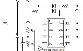高性能离线PSR电源开关芯片SP2689AFB
