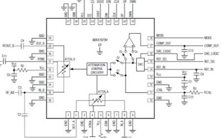 基于10MHz-500MHz双路通用模拟电压衰减器控制电路设计