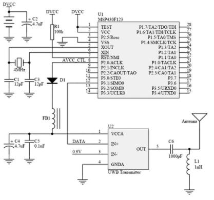 基于单片机和TH-UWB02芯片实现超宽带窄脉冲...