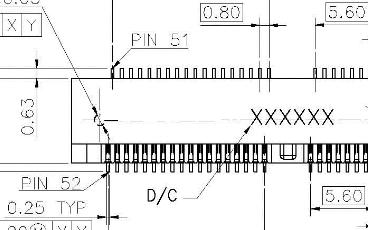 連欣52PIN連接器產品原理圖下載