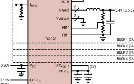 四通道降壓DC-DC轉換器芯片LTC3376數據手冊