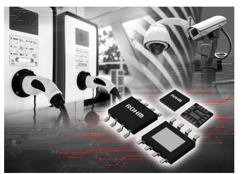 "ROHM開發出耐壓高達80V、輸出電流達5A的電源IC""BD9G500EFJ-LA""和""BD9F500QUZ"""