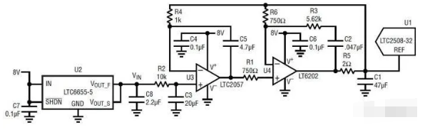 降低基准输出噪声的低通滤波器电路详解