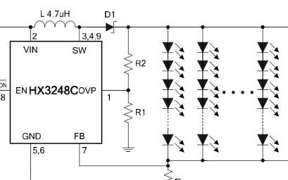 升壓型DC/DC轉換器芯片HX3248C數據手冊