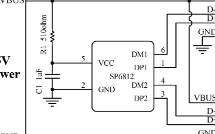 USB专用充电控制器芯片SP6812R数据手册