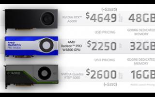 AMD發布RNDA 2專業顯卡,7nm的Radeon Pro來了