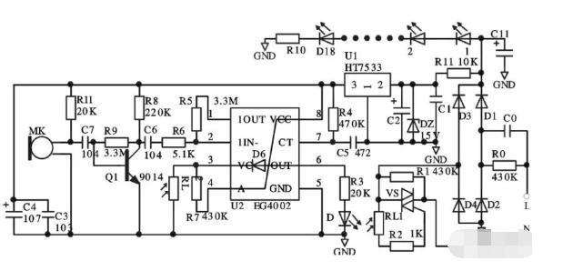 如何利用EG4002C构建一种微功耗声光控灯电路