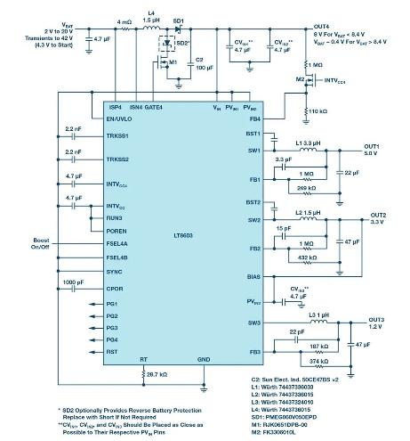 介绍一款LT8603紧凑型稳压器