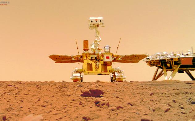 祝融号传回火星自拍照,火星车留下了多少彩蛋?