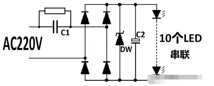 阻容降压式驱动的LED灯电容坏了怎么修?