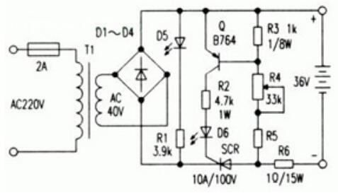 自制电动车充电器电路图