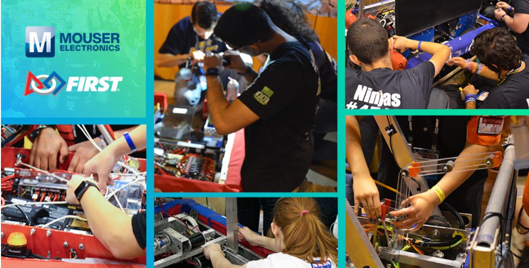 贸泽电子赞助面向青少年的FIRST机器人竞赛助力培养下一代工程师