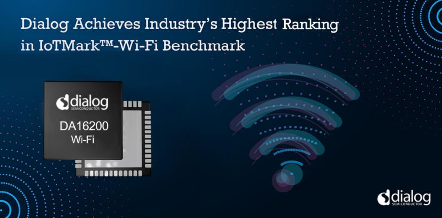 Dialog半導體公司在IoTMark?-Wi-Fi基準測試中達到行業最高排名