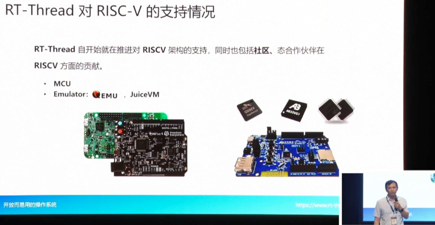 risc-v峰會亮點 RT-Thread對RISC-V的支持