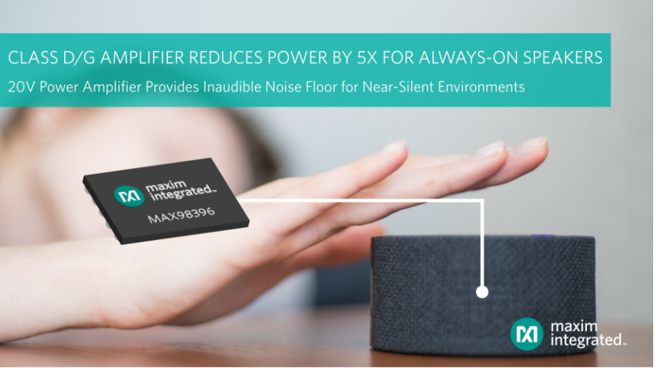 Maxim Integrated發布業界噪聲最低...