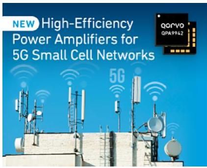 Qorvo ?推出面向5G小基站网络的高效功率放大器系列产品