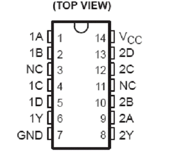 74ls20引脚图及功能