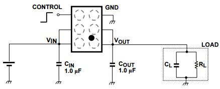 基于TCK112G_Typical Application电源管理的参考设计