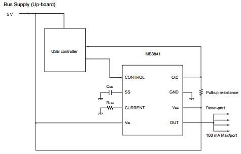 基于MB3841_Typical Application电源管理的参考设计
