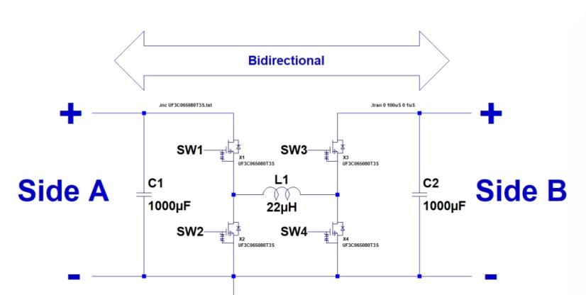 用碳化硅MOSFET设计一个双向降压-升压转换器
