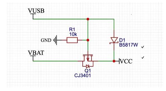 USB外接电源与锂电池自动切换电路设计