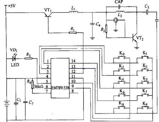 无线遥控智能照明系统电路图