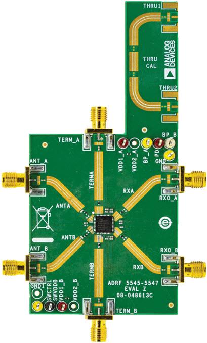 基于ADRF5549-EVALZ接收器的参考设计