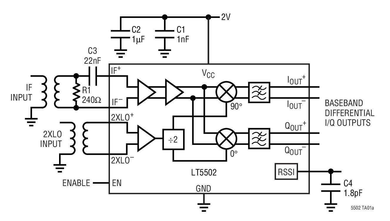 基于LT5502_Typical Application调制器的参考设计