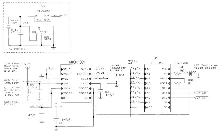 基于MICRF001 EV调制器的参考设计