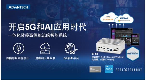 重磅新品!研華EI-52邊緣智能系統搭載Intel第11代處理器, 助您開啟5G和AI應用時代