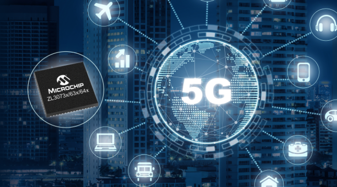 Microchip推出首款單芯片網絡同步解決方案,為5G無線接入設備提供超精確授時