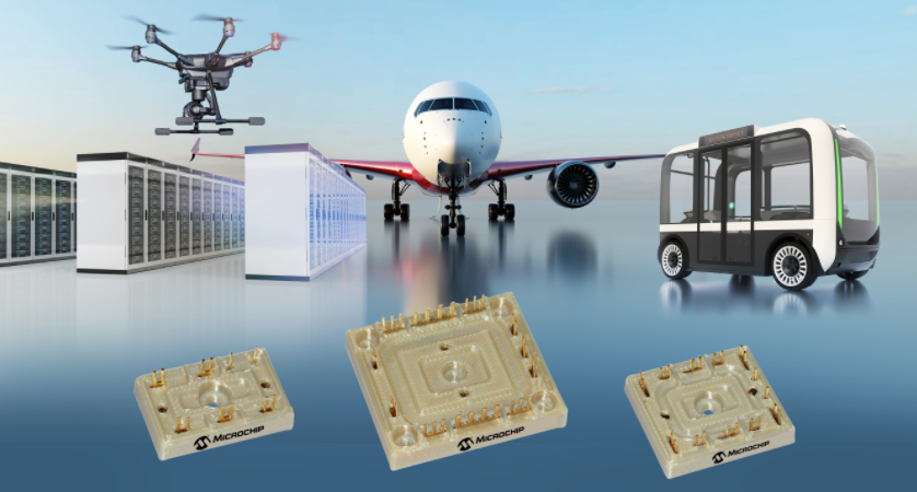 Microchip推出首款通过航空航天认证的无基座电源模块产品系列,提高飞机电气系统效率