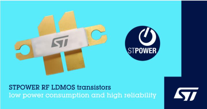 意法半导体推出新的射频LDMOS功率晶体管