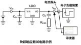 一个线性稳压器阶跃响应的测试数据示例