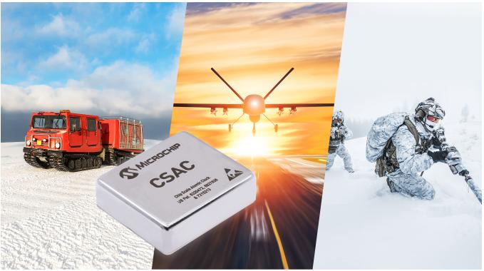Microchip推出新型芯片级原子钟(CSAC),可在极端环境下提供更大的工作温度范围、更快预热和更好的频率稳定