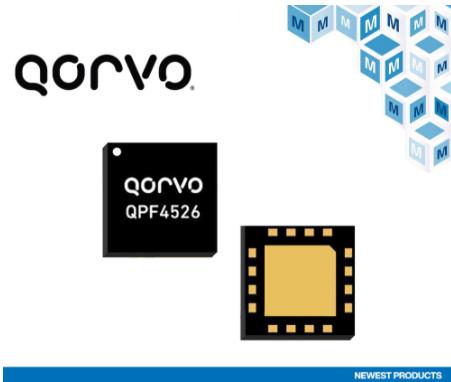 貿澤開售微型Qorvo QPF4526 Wi-F...
