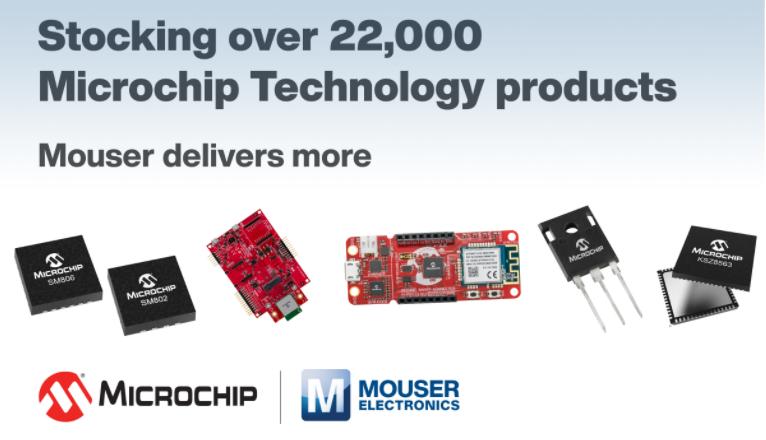 貿澤備貨豐富多樣的Microchip Techn...